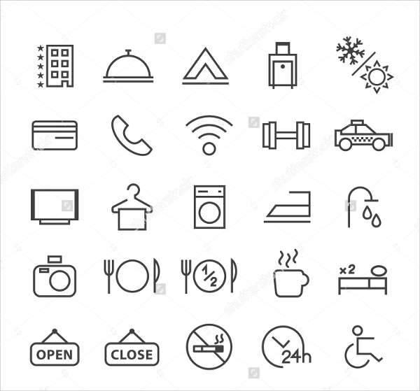 Minimal Hotel Icons