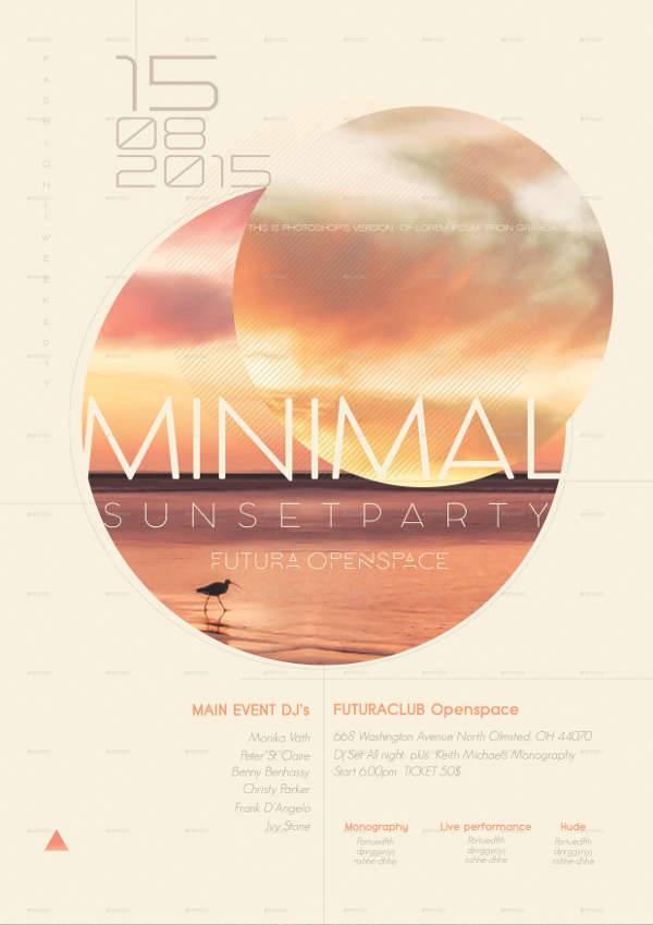 Minimal Modern Summer Flyer