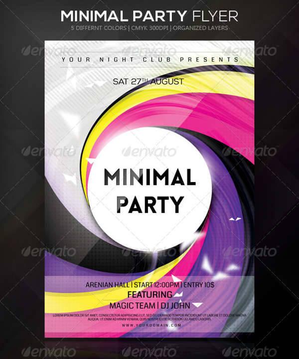 Minimal Party Flyer Design