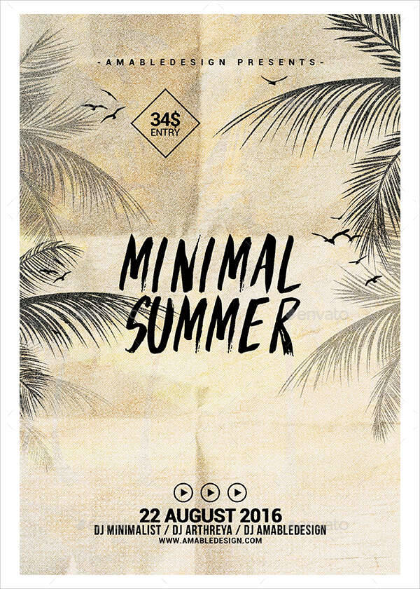 Minimal Summer Flyer Poster