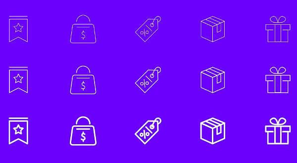 minimalist e commerce icons