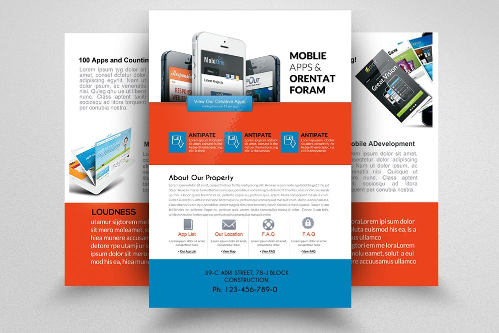 Mobile Apps Sided Flyer