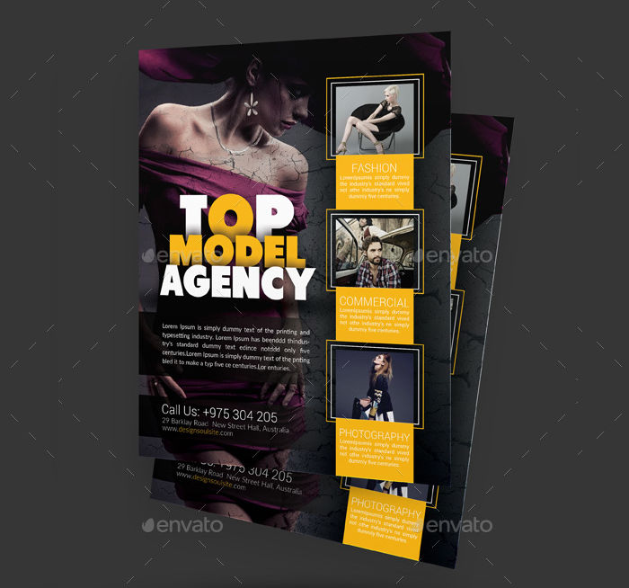Modelling Agency Template