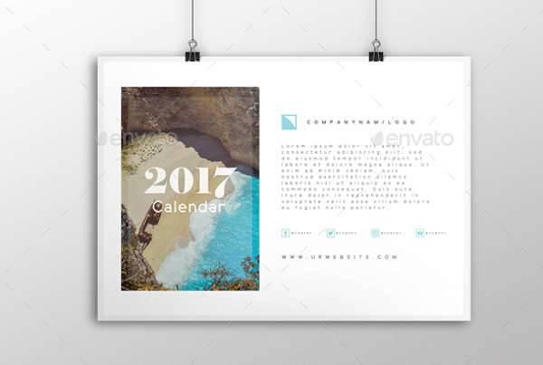Modern 2017 Calendar