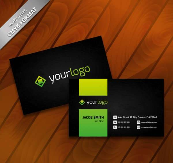 modern business card logo
