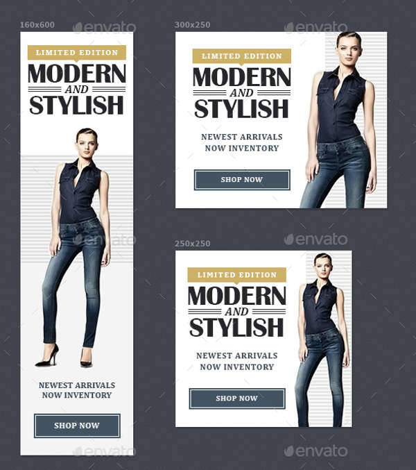 modern fashion advertising banner