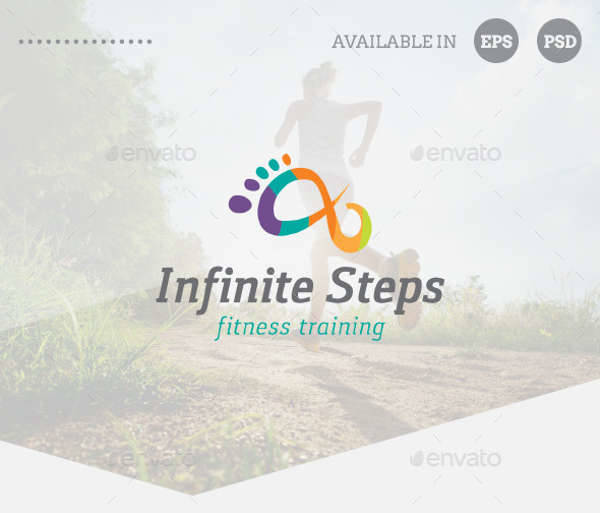 modern fitness training logo