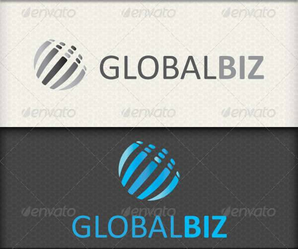 modern global business logo