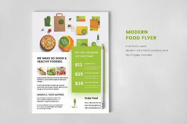 modern restaurant ad flyer