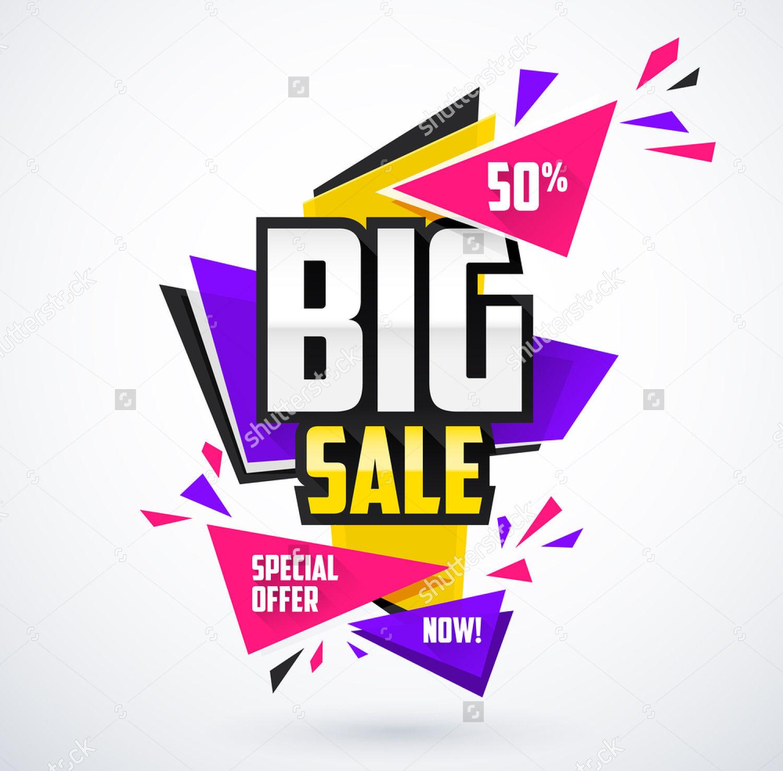 modern sales offers banner template