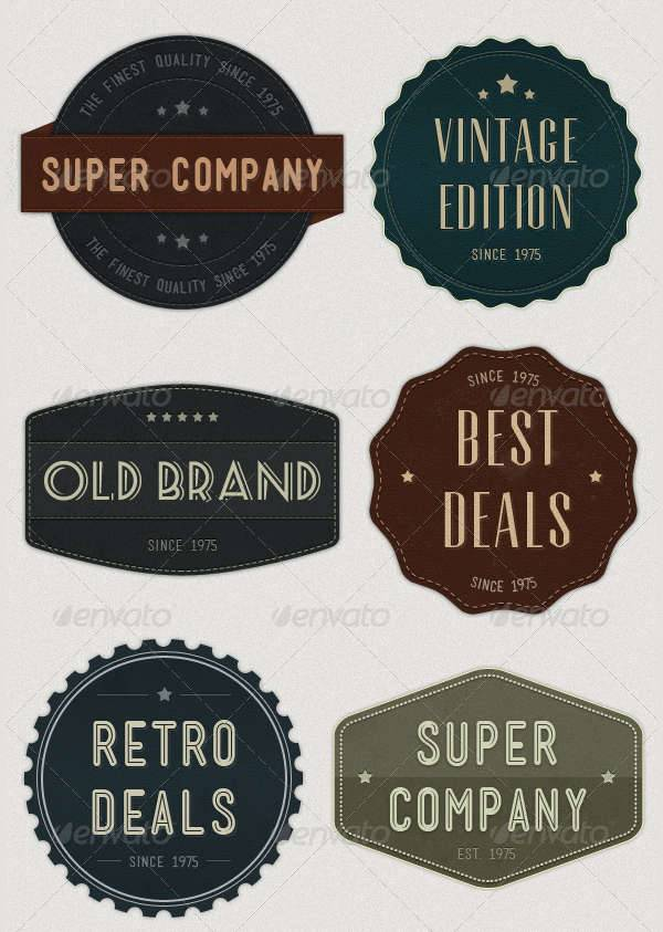 modern vintage logo badge