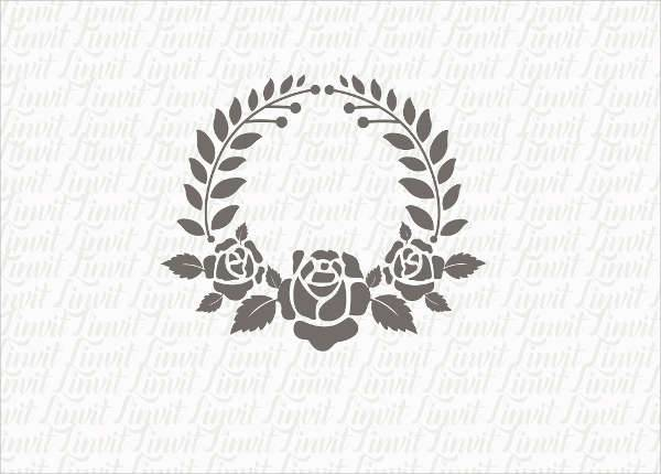 Monogram Floral Wedding Logo