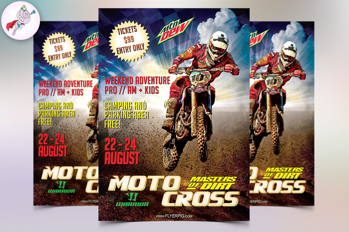 Motocross Sports Event Flyer