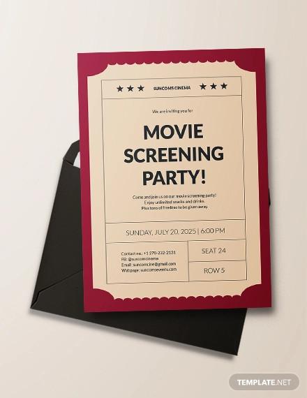 movie ticket invitation design