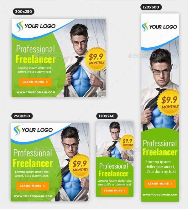 multipurpose corporate banner ad