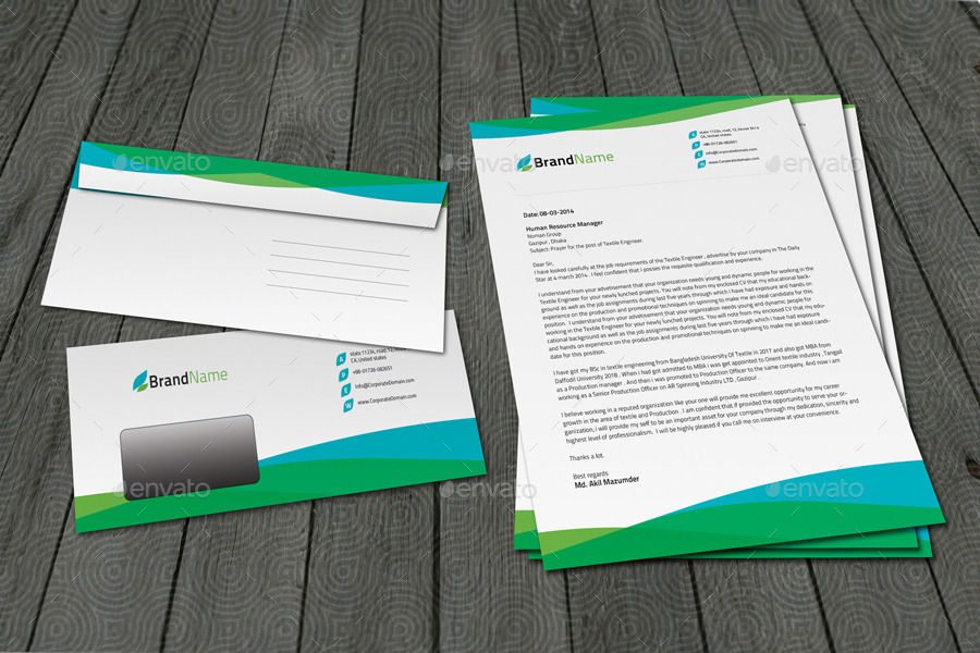 Multipurpose Letterhead & Envelope Template