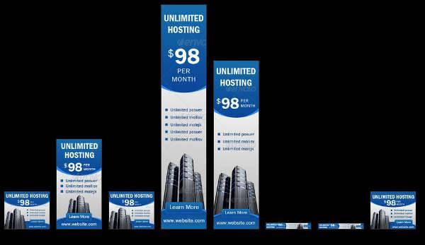 multipurpose web hosting banner ad
