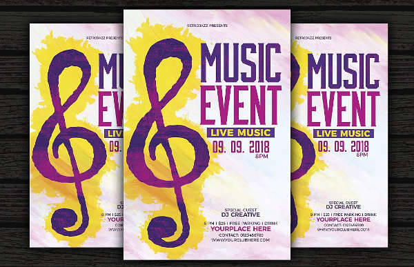 music event flyers