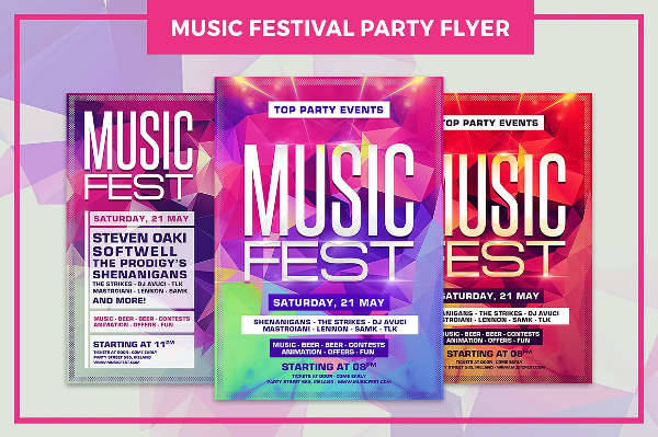 music festival party flyer