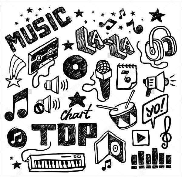 music hand drawn icons