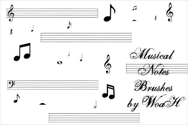 Music Note Brushes