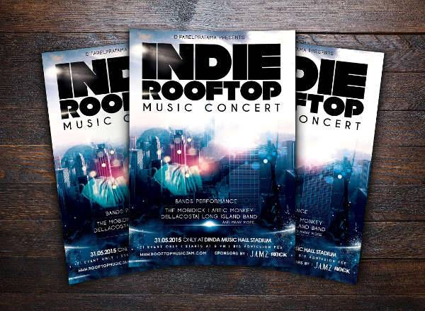 17  music party flyers