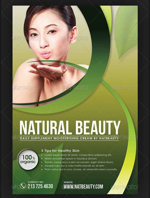 Natural Beauty & Cosmetic Flyer