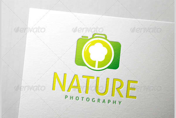 Nature Photography Logo PSD
