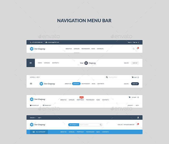 navigation menu bar
