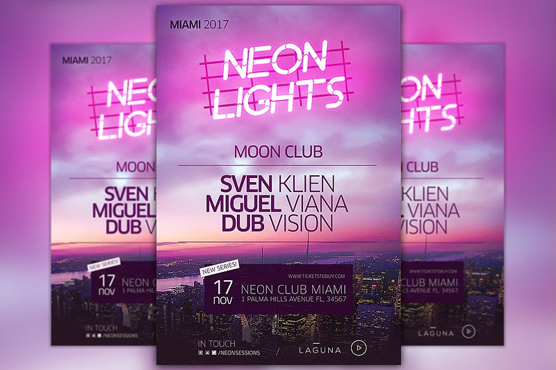 Neon City Club Flyer