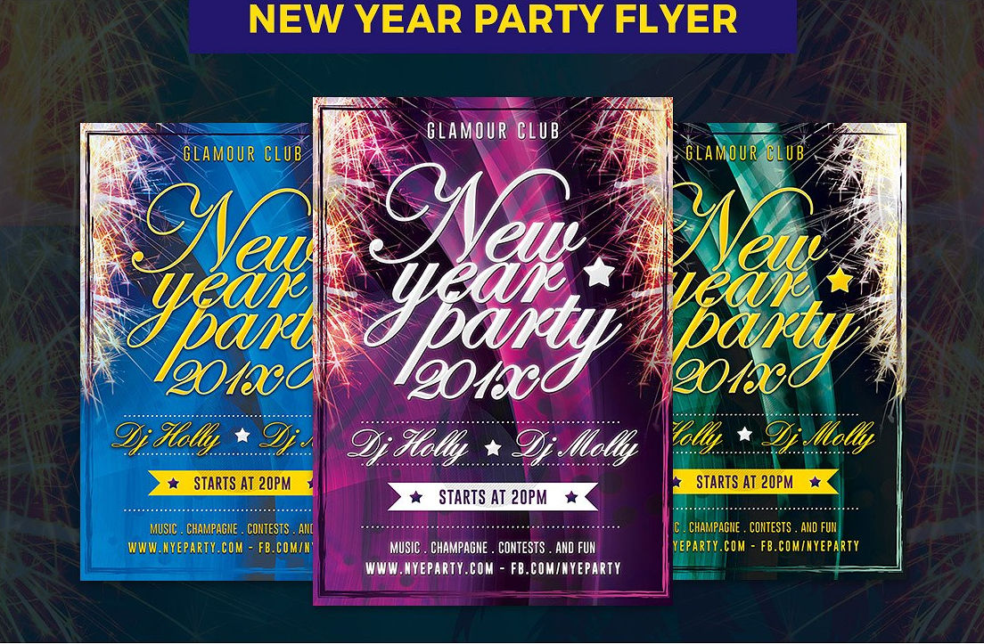 New Eve Club Party Flyer