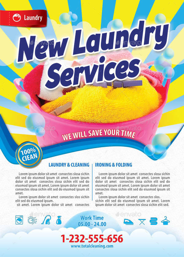 48 service flyer designs printable psd ai vector eps format new laundry service flyer pronofoot35fo Image collections