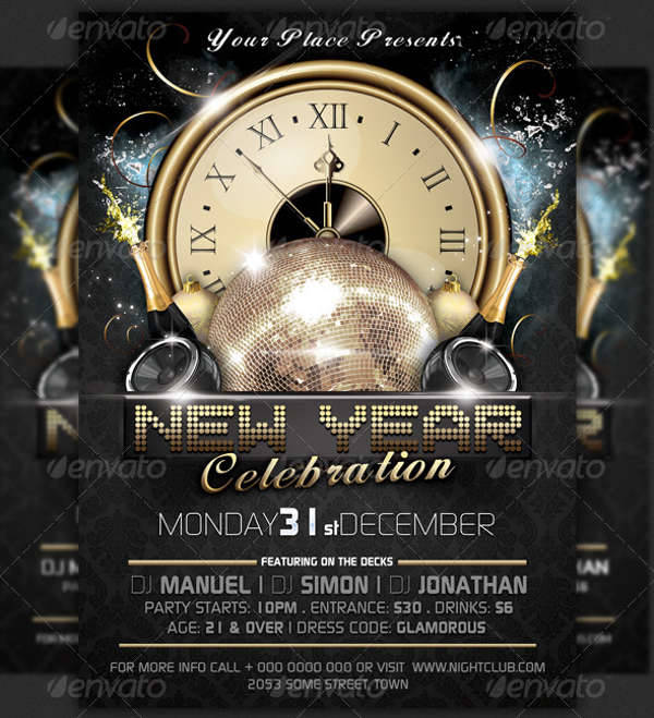 New Year Eve Party Event Flyer
