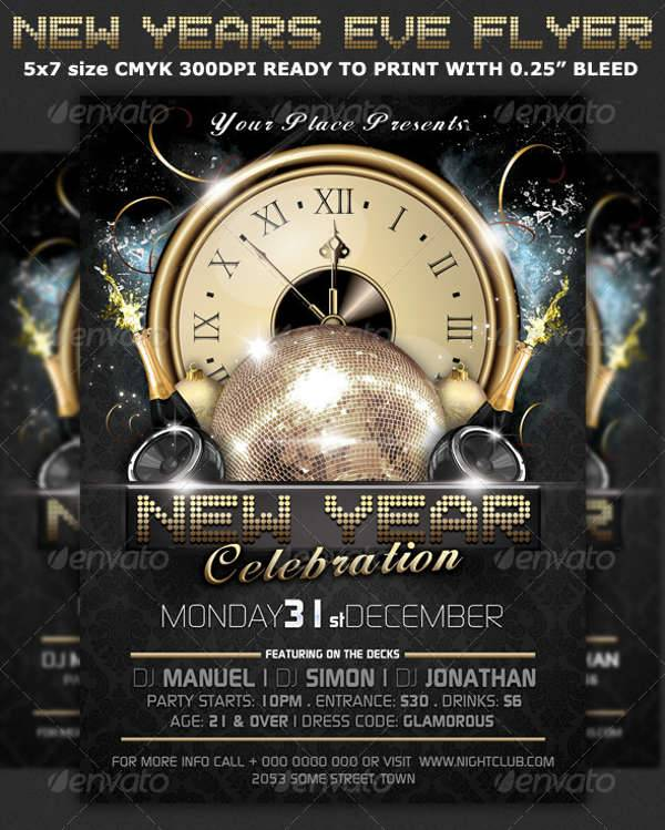 new year eve party flyer design