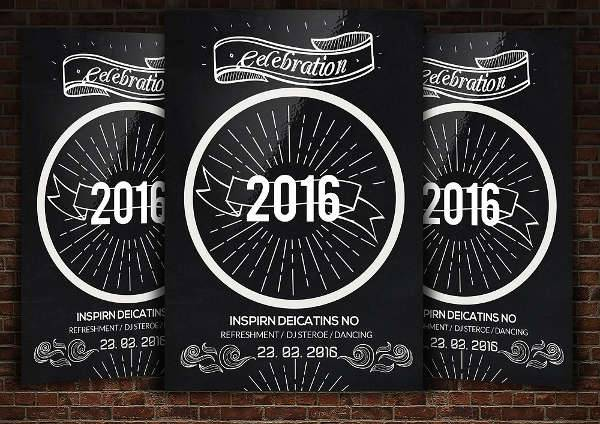 New Years Chalkboard Flyer