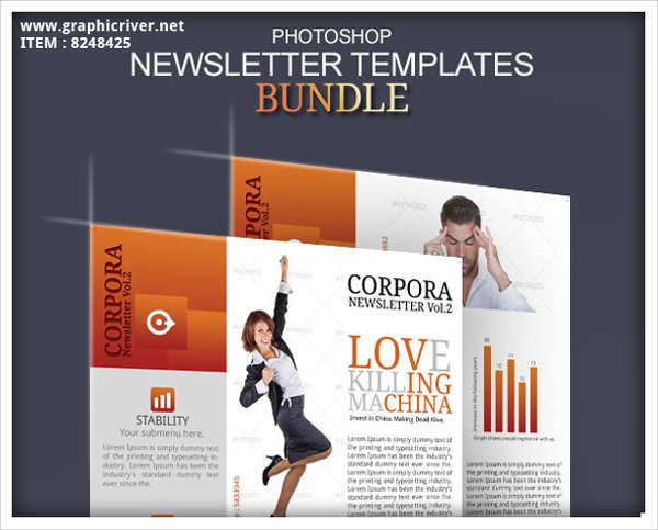 newsletter photoshop template design