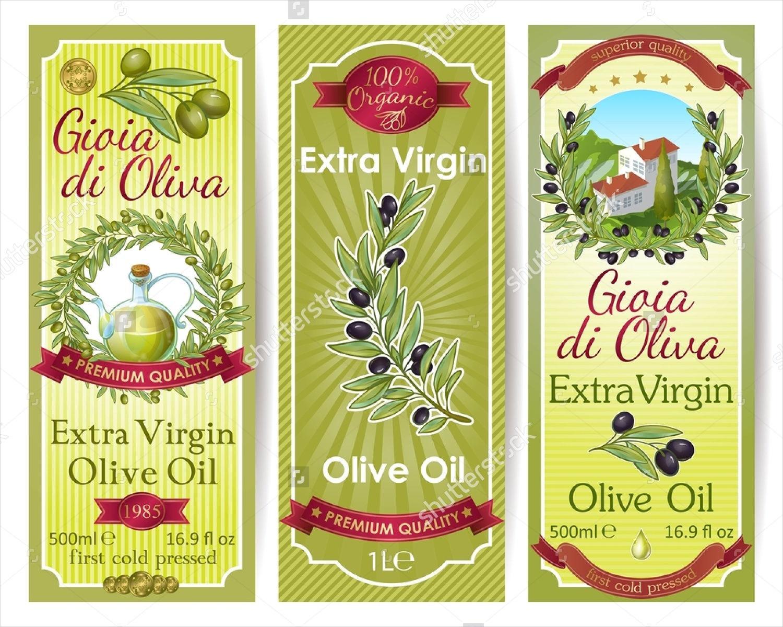 oil packaging label