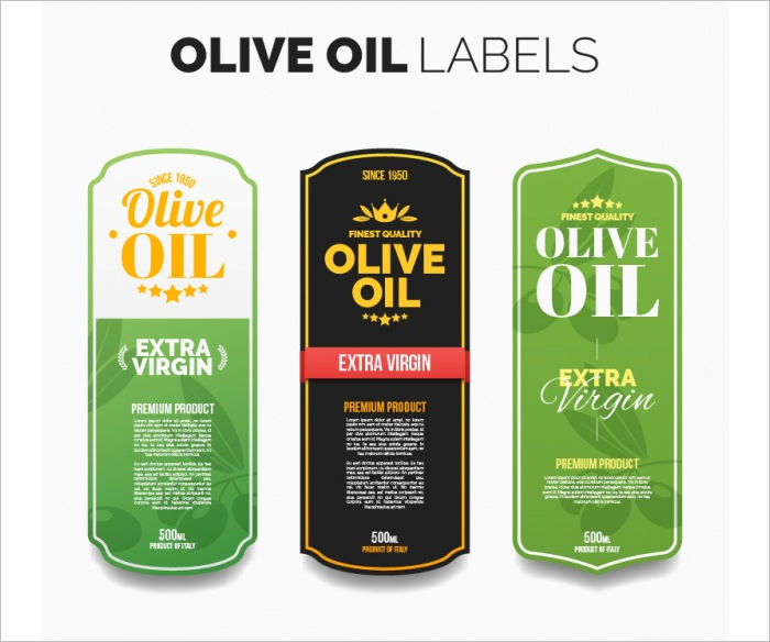 oil product label design