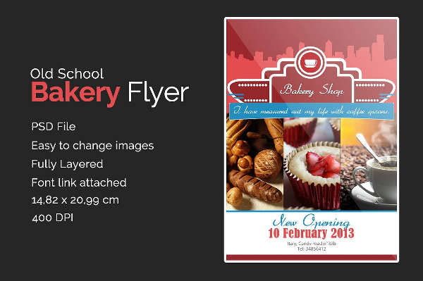 24  bakery flyers templates - indesign  psd  publisher  ms word