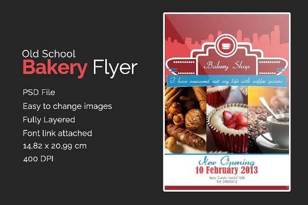 24  bakery flyers templates