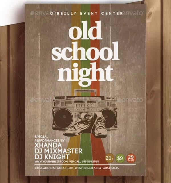 Old School Retro Party Flyer