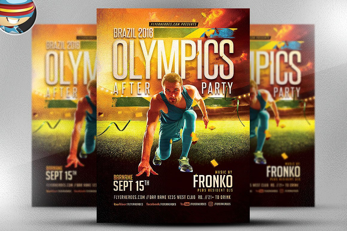 Olympic Sports After Party Flyer