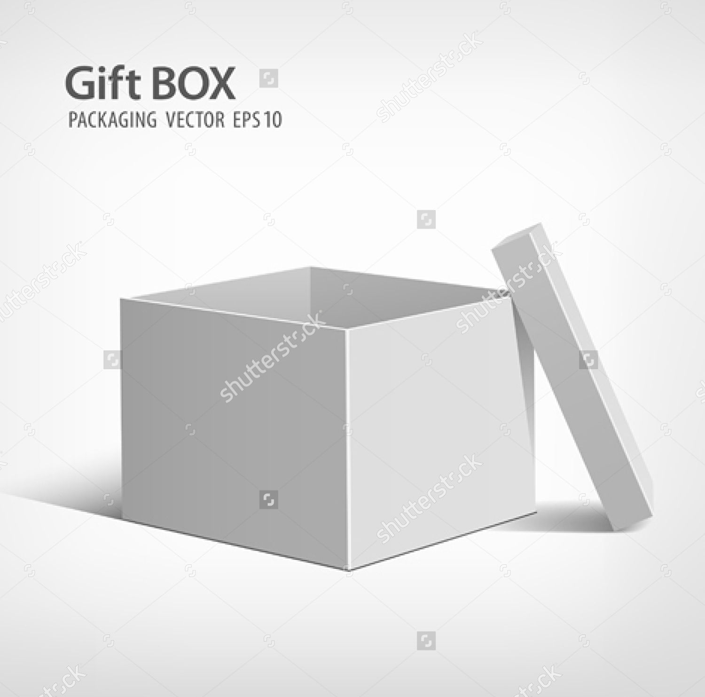 open gift box packaging