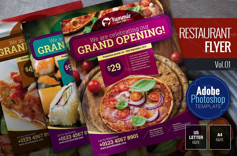PSD Restaurant Opening Flyer