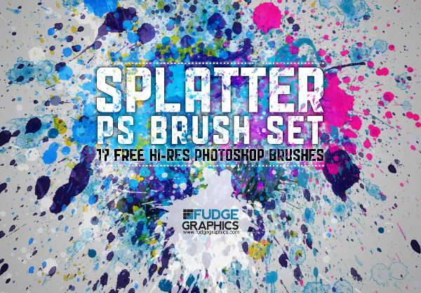 Paint Splatter Brushes
