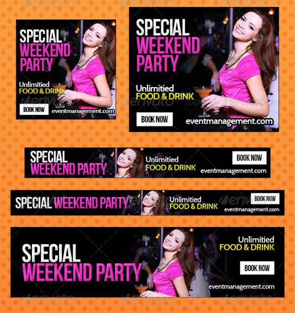 Party & Event Management Banner
