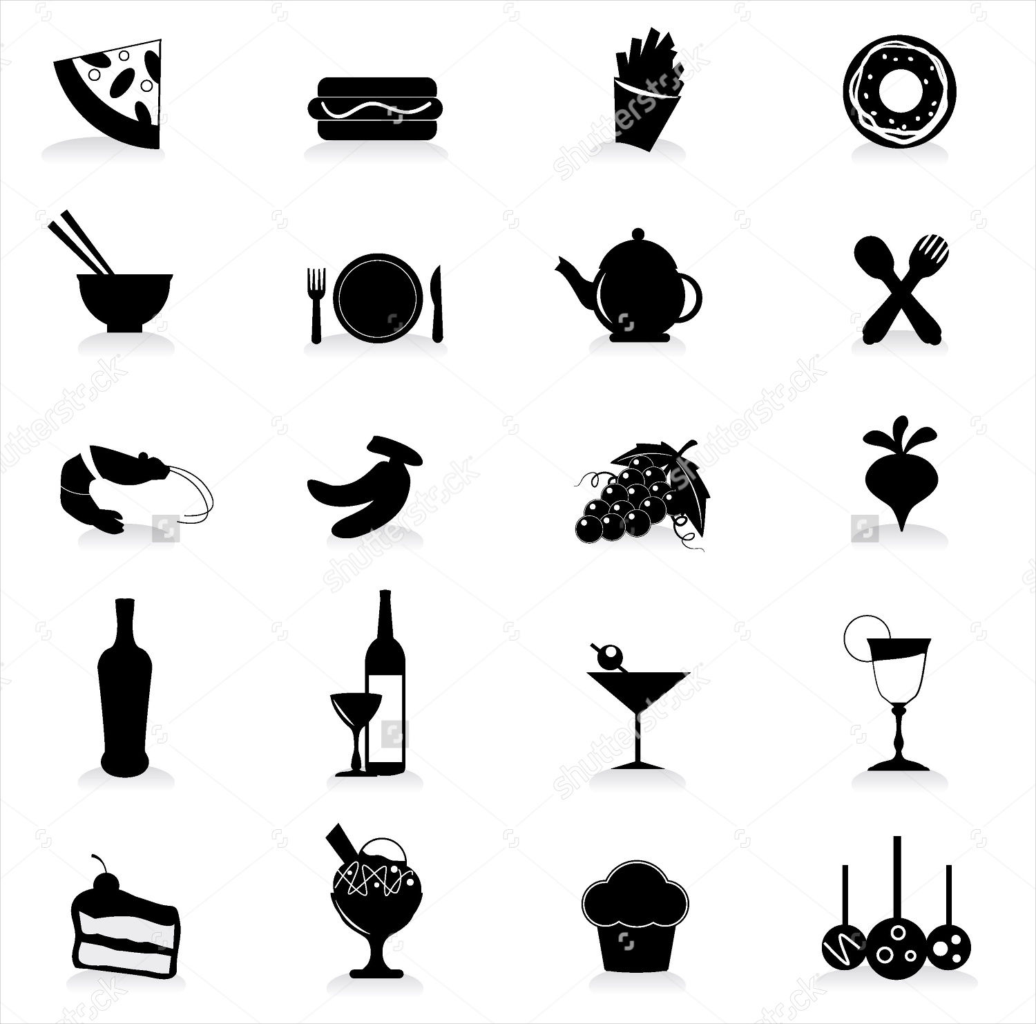 party food icons