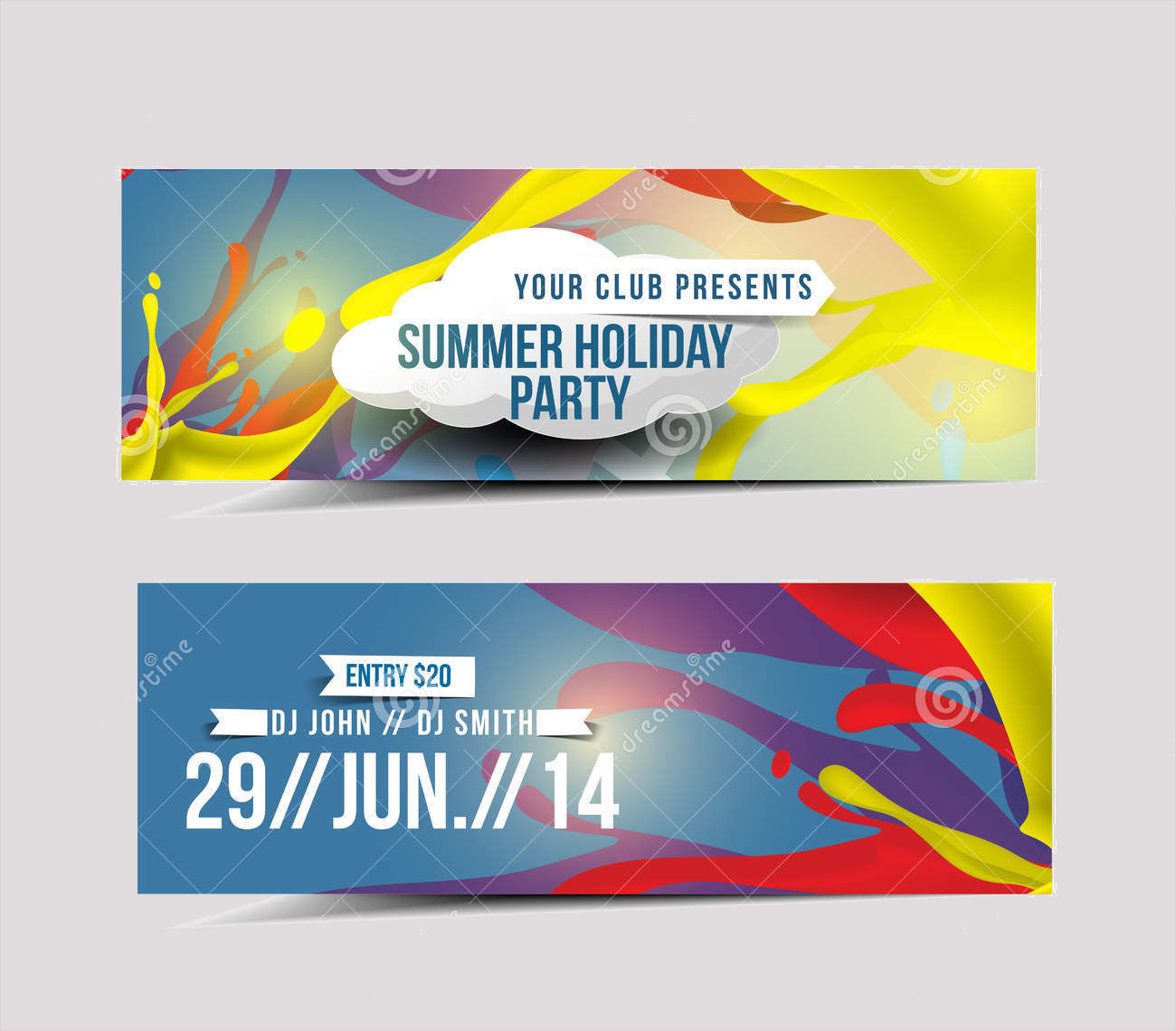 party promotion banner
