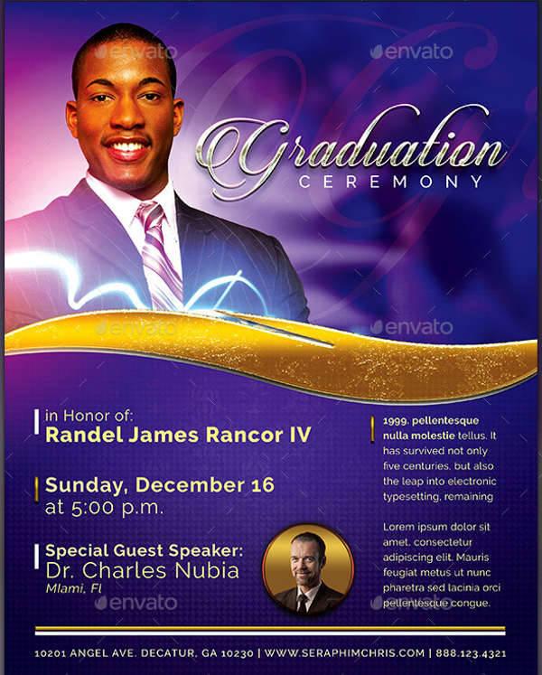 pastors graduation ceremony flyer