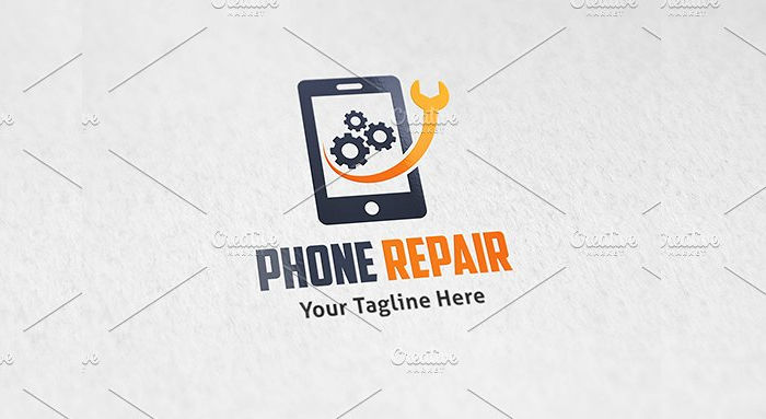 phone repair service logo